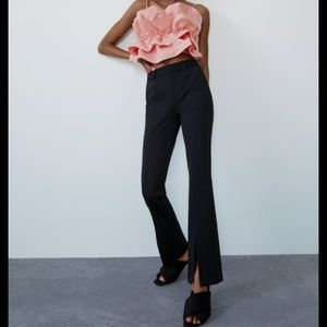 Zara Pants Front Split